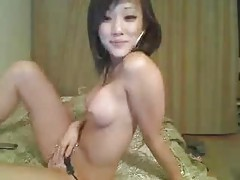 Hot Asian with perfect tits on webcam tubes