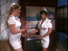 Naughty nurse gives body to patient tubes