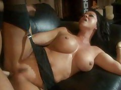 Milf on the couch fucked by hunk tubes