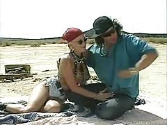 Biker slut ass fucked in the desert tubes