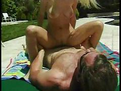 Intense fucking of blonde in sunglasses tubes