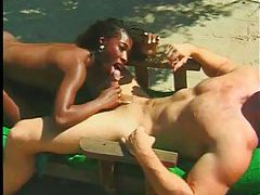 Black chick with tight body pounded tube