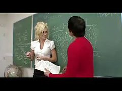 Blonde teacher laid by a student tubes