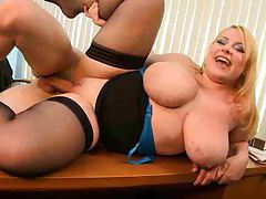 Office sex with a chubby blonde girl tube