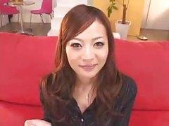 Bukkake for Asian girl in business suit tubes