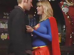 Supergirl has big tits and takes his cock tubes