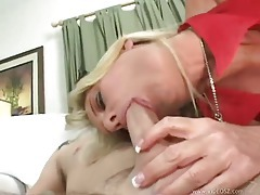 Seductive cougar wants his cock inside her tubes