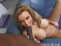 Busty white girl is a slut for black cock tubes