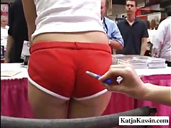 See Katja Kassin at an adult show tubes