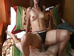 Milf with small tits takes a creampie tubes