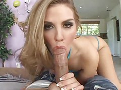 Girl models her big ass and takes cock tubes