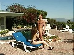 Muscular man fucks a hot whore outdoors tubes