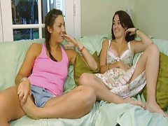 Two scenes of girls masturbating together tubes