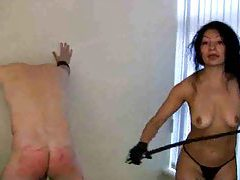 Chick gives her man a whipping tubes