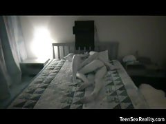 Teen couple fucking lustily in bed tubes