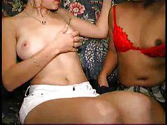 Asian milf in a threesome with hot couple tubes