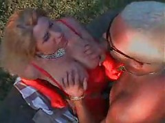 Major tit chick in red fucked outdoors tubes