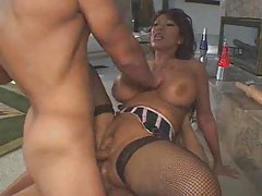 Double penetration and bizarre shit stuffed inside her tubes