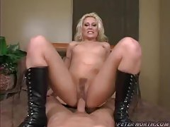 POV sex with the slut wearing the black boots tubes