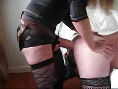 Mistress fucks her sissy in the ass with strapon tubes