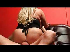 Fat blonde in stockings taking dick in a bar tubes