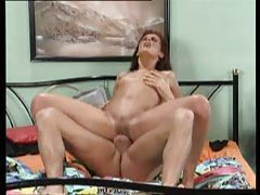 Milf performs oral and rides his boner tubes