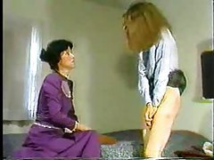 Lady of the house spanks a naughty girl tube