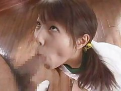 Cute Japanese girl sucking a hot dick tubes