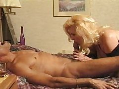 Mature blonde seduces him for a doggy style fuck tubes