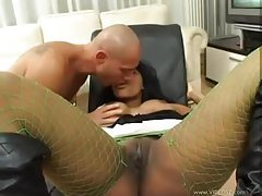 Tempting black chick turns him on wonderfully tubes