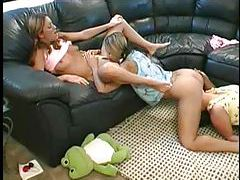 Three young lesbians are having hot fun tubes