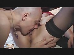 Little chick with pink hair fucked in scene tubes