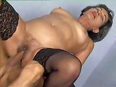Granny pulls out his cock and gets fucked tubes