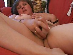 Chubby bitch with big tits plays solo tubes