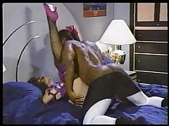 Classic interracial fuck with pornstar Sharon Mitchell tube