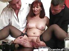 Mature fucked after losing strip poker tubes