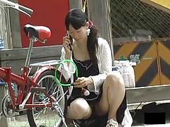 Asian girl upskirts outdoors are hot tubes