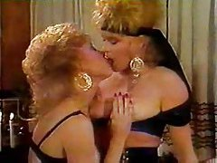 Two 80s girls with big hair eat pussy tubes