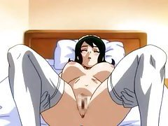 Busty hentai girl has cum dumped in pussy tubes