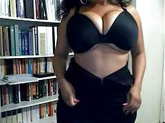 Black BBW with a big ass doing webcam tease tubes