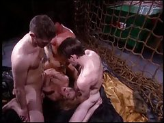 Classic pornstar Ginger Lynn doing a threesome tubes