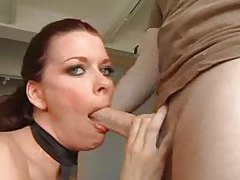 Glamorous chick giving a deepthroat blowjob tubes