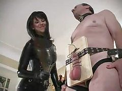 It is all about pain for his submissive balls tube