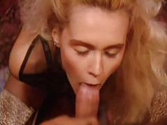 Two cocks penetrate this blonde slut tubes