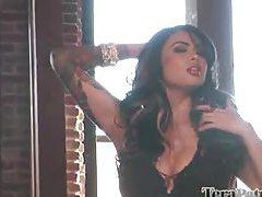 Gorgeous big tit pornstar doing photo shoot tubes
