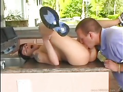 Tiny teen rides a big dick outdoors tubes