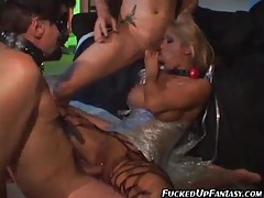 Babe in plastic wrap face fucked hard tubes