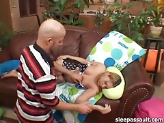 He fucks the sleeping girl with his hard cock tubes