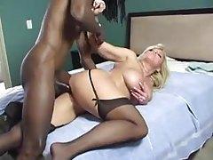 Big black cock drills the tempting blonde tubes
