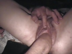 Amateur pussy fisted and stretches wide tubes